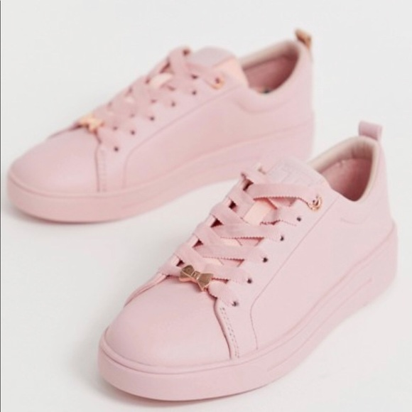 ted baker pink shoes with bow